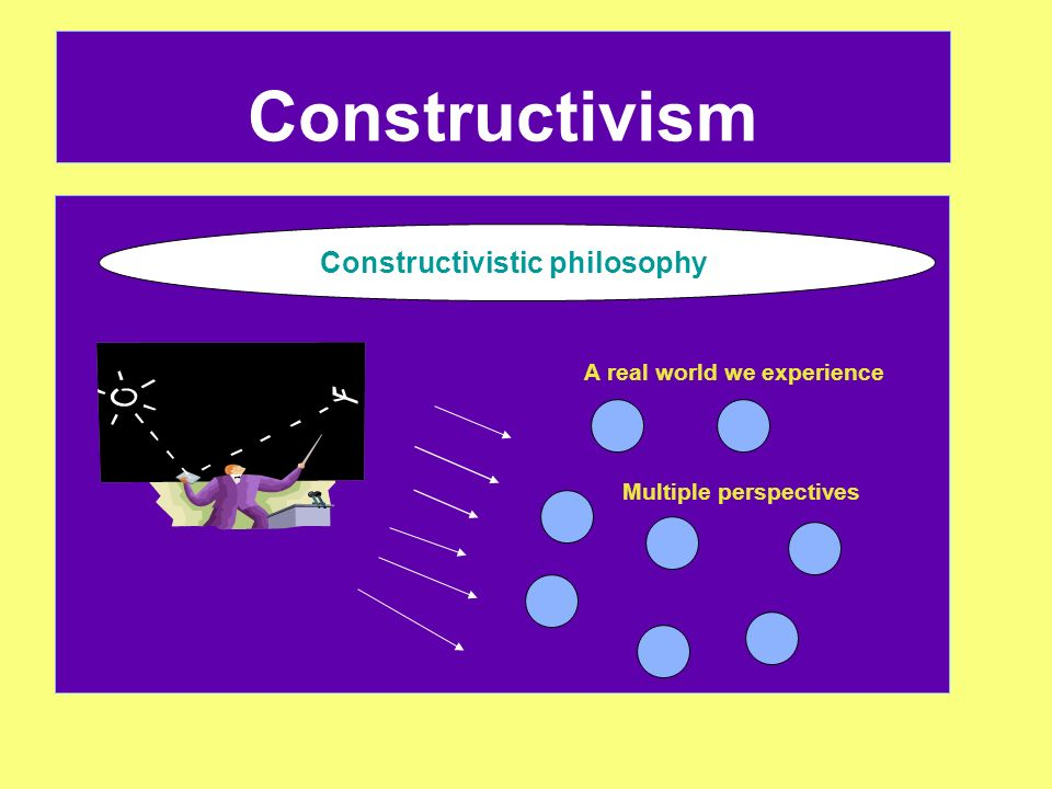 Constructivism Constructivistic philosophy A real world we experience