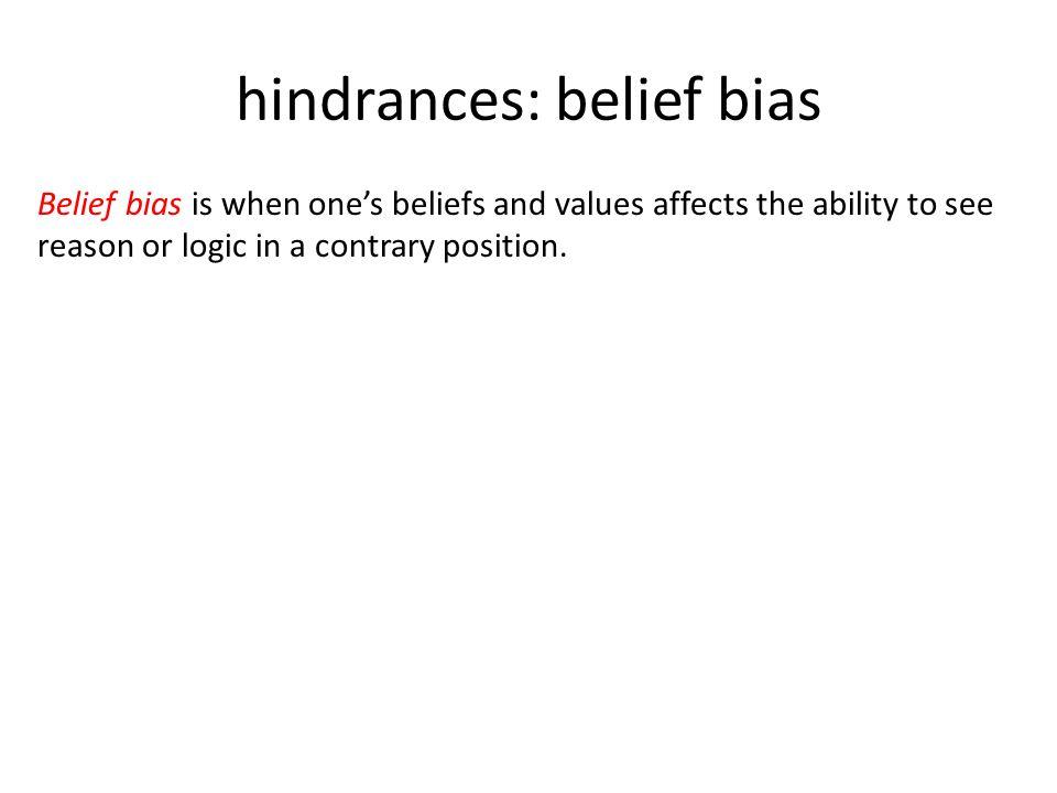 how to avoid belief bias