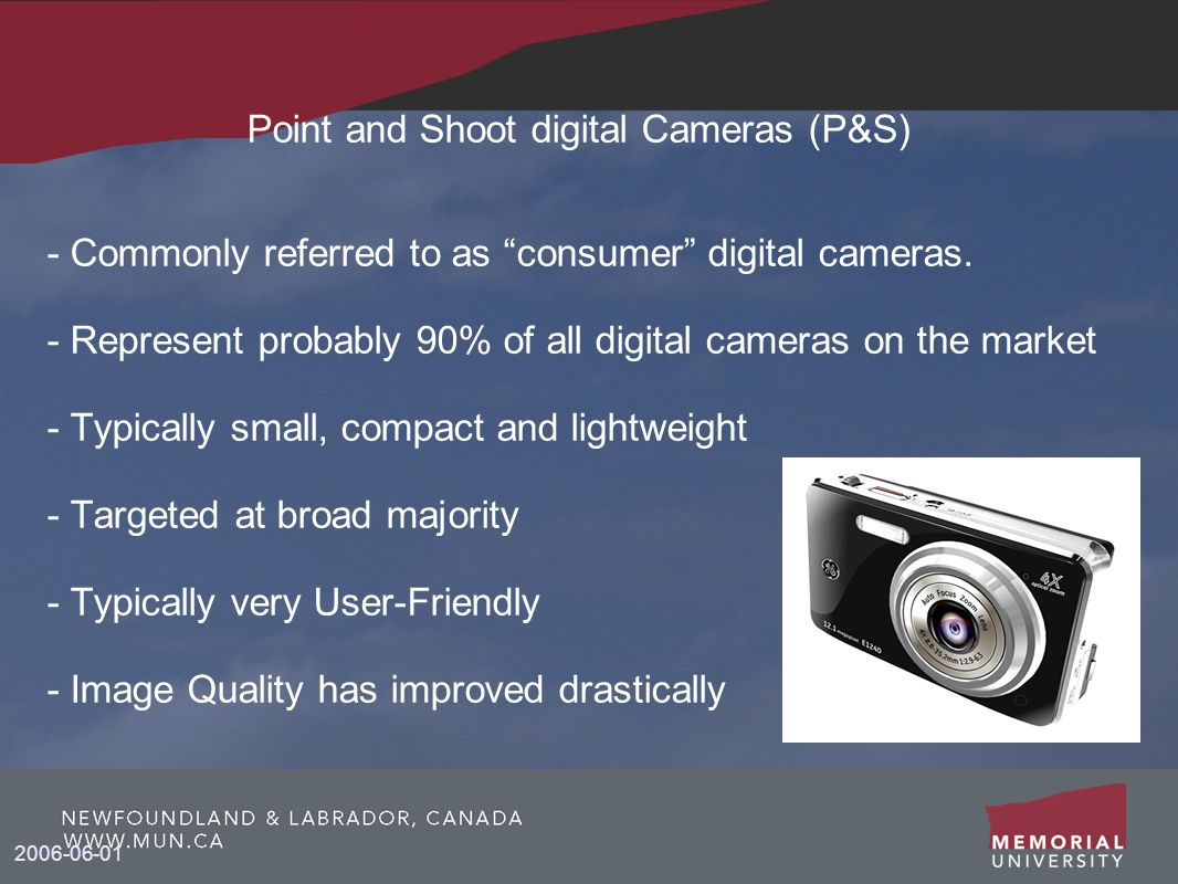 Point and Shoot digital Cameras (P&S)‏