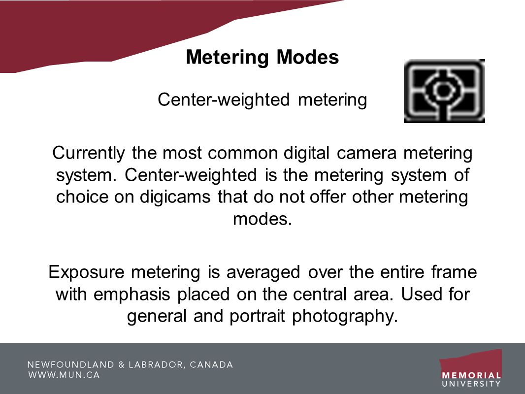 Center-weighted metering