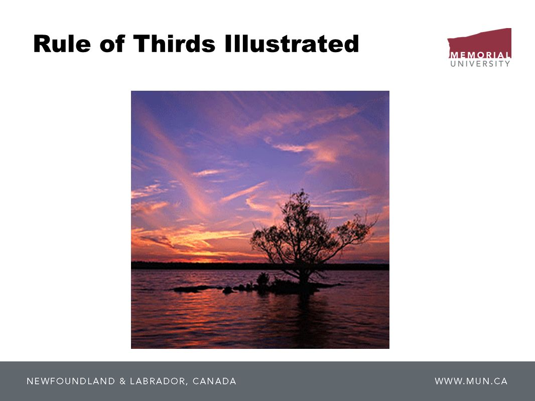 Rule of Thirds Illustrated