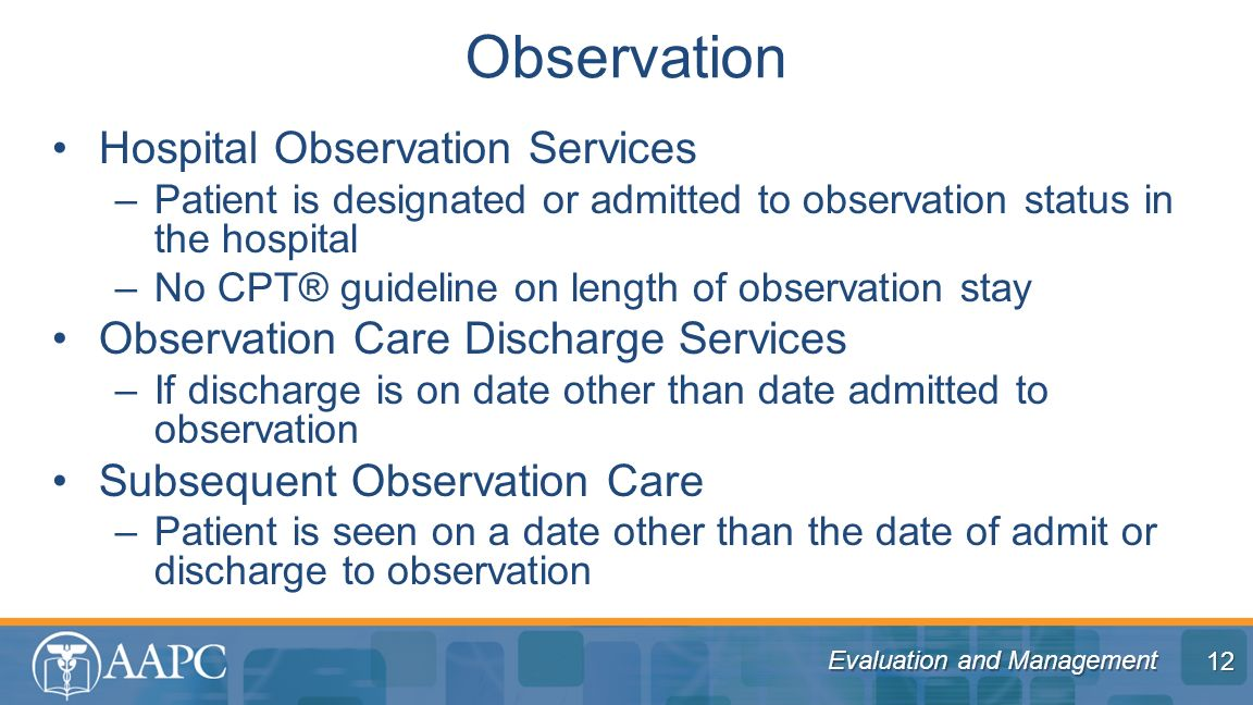hospital observation Observation and learning experience (ole) provides a centralized office to   observing does not include the following: direct patient care hospital or.
