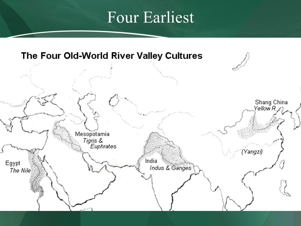 river valley civilizations of the middle The river valley civilizations a surplus of agricultural production led to the rise of complex human societies, or civilizations with the need of agricultural societies to irrigate, it is not surprising that many civilizations emerged in river valleys.