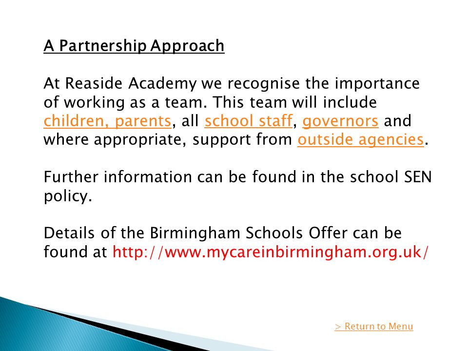 Parental Partnership Policy