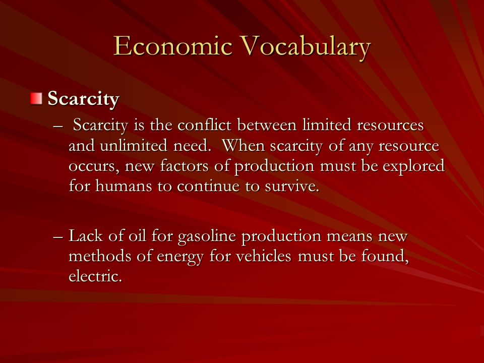 Scarcity Of Natural Resources And Conflict