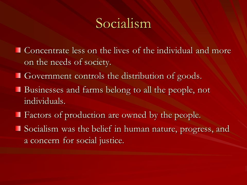 Socialism And Human Nature