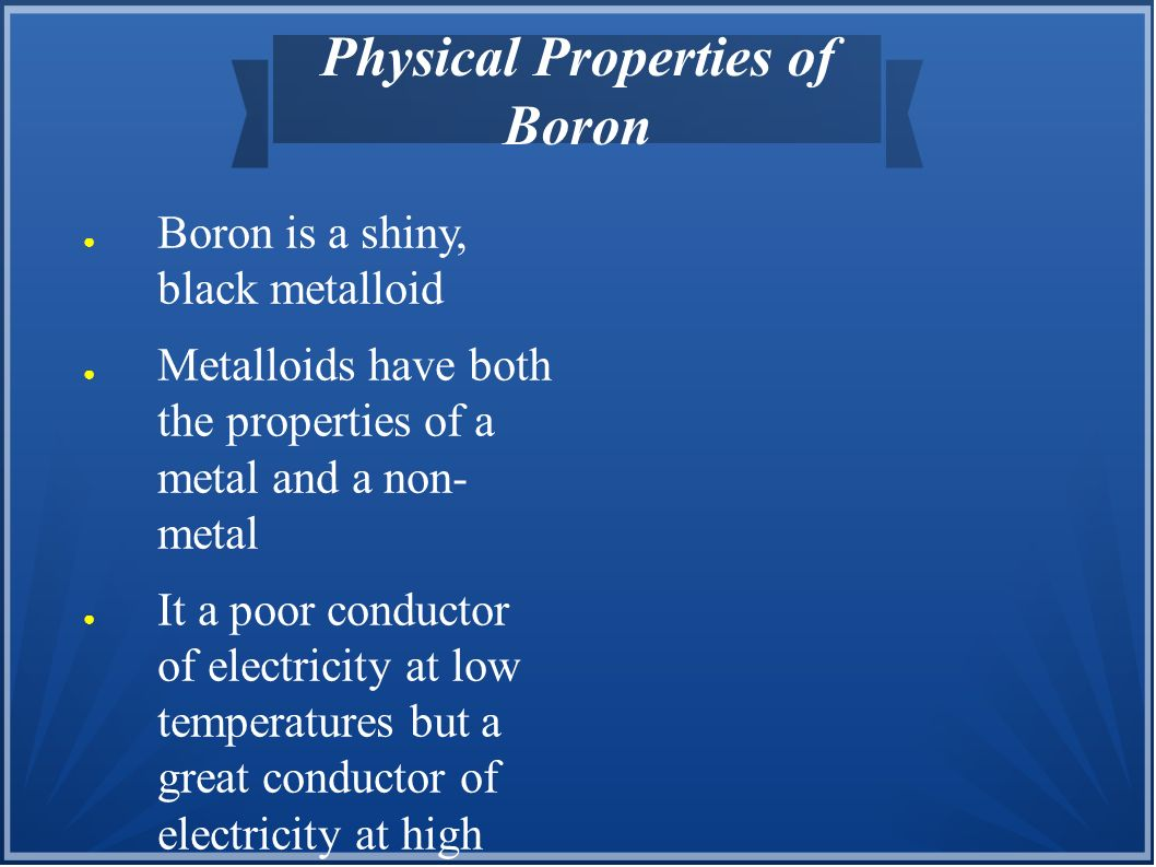 Physical Properties of Boron