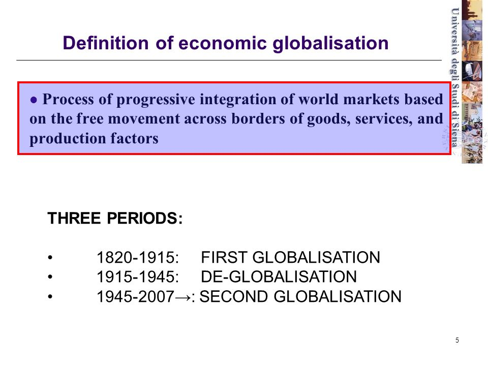 a definition of globalization Globalization is a powerful result of the new world system it represents one of the most influential forces in determining the future what is driving globalization.