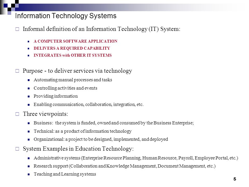 Information Technology System : How to deliver a technology project ppt download