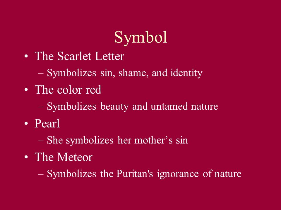 What do the colors in the scarlet letter symbolize?