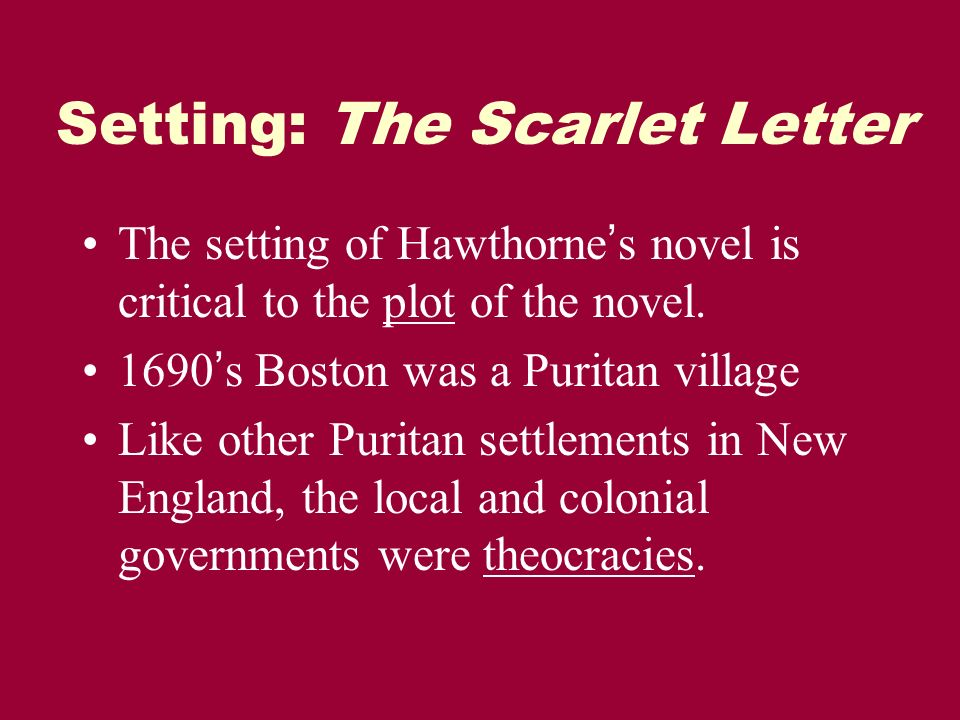 puritans scarlet letter essay Symbolism in the scarlet letter the puritan full glossary for the scarlet letter essay even as a baby, she instinctively reaches for the scarlet letter.