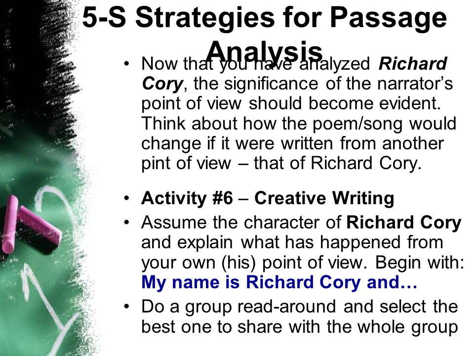 pre ap english the s strategies for passage analysis ppt  5 s strategies for passage analysis