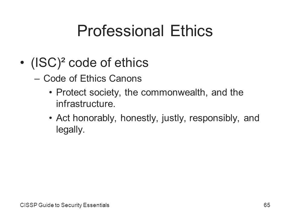 isc code of ethics pdf