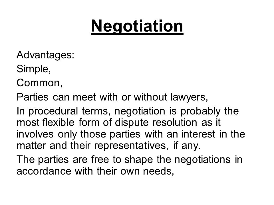 notes what is negotiation How can the answer be improved.