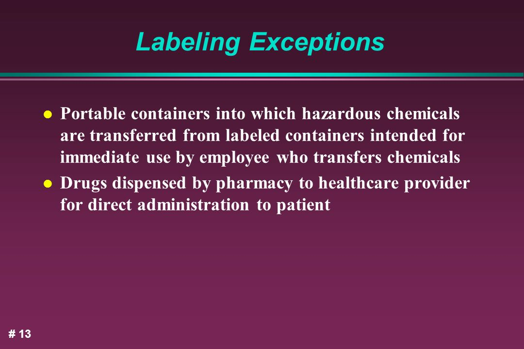 Labeling Exceptions