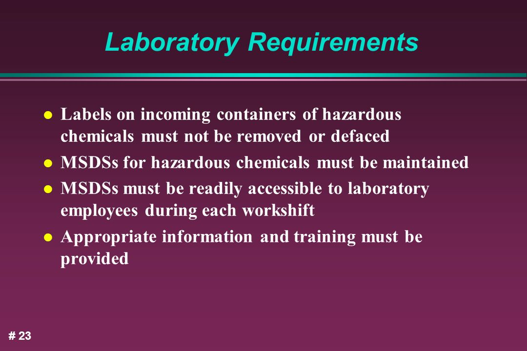 Laboratory Requirements