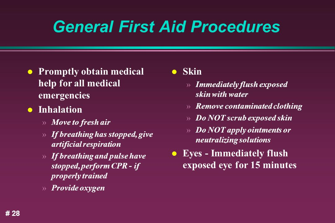 General First Aid Procedures
