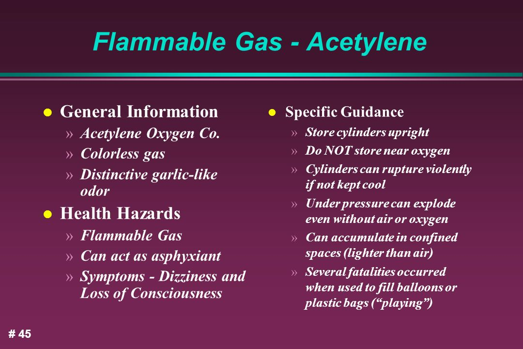 Flammable Gas - Acetylene