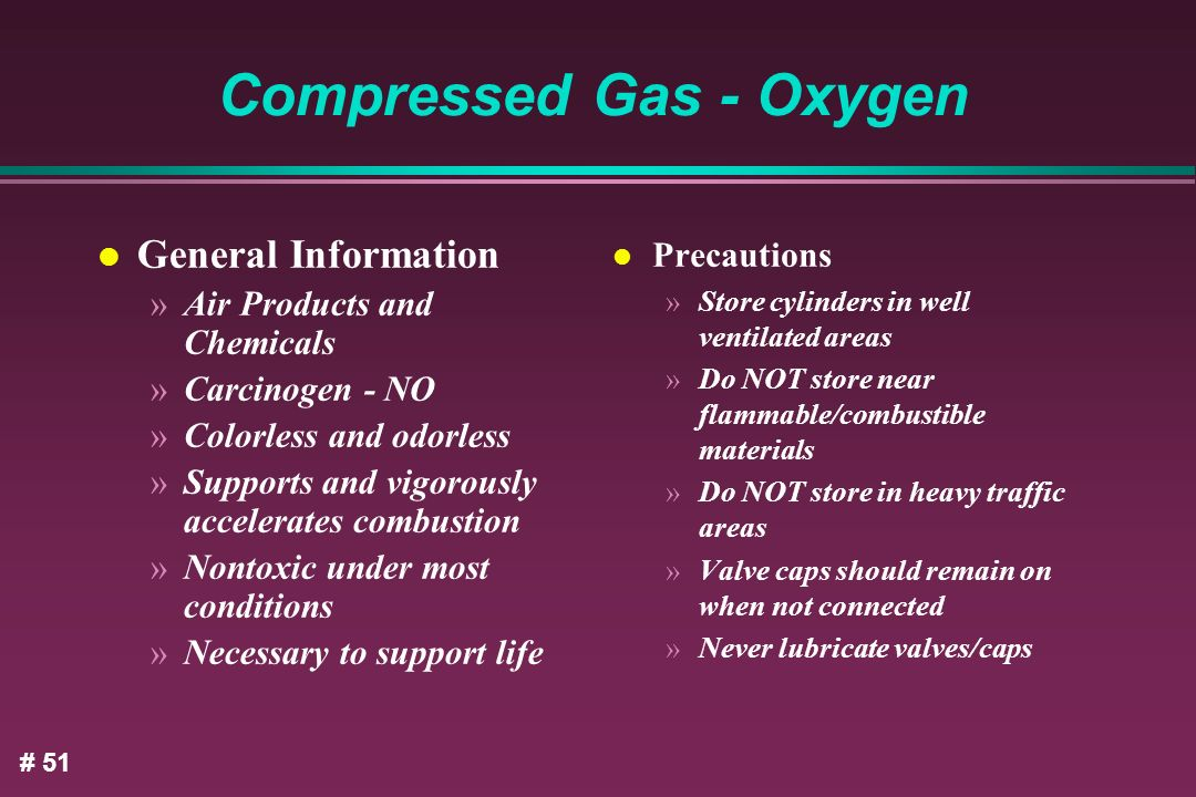 Compressed Gas - Oxygen