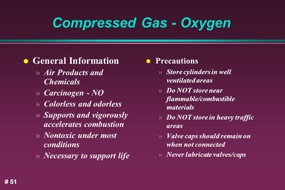 Compressed Gas - Oxygen