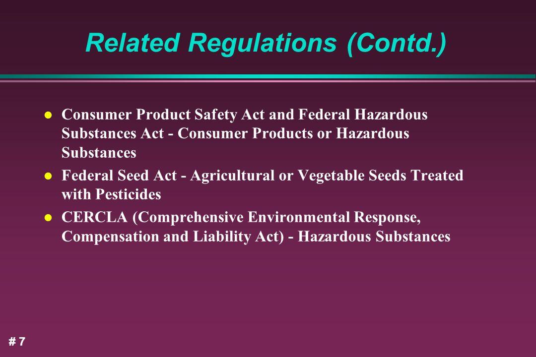 Related Regulations (Contd.)