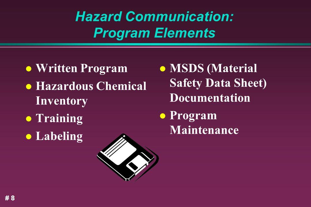 Hazard Communication: Program Elements