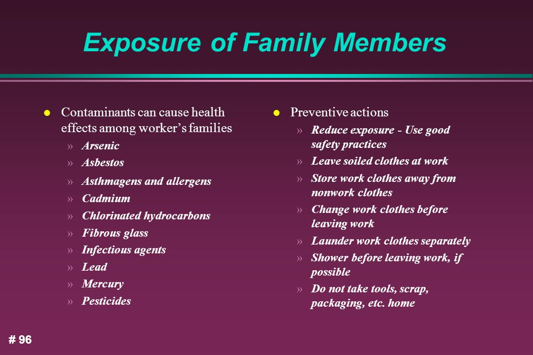 Exposure of Family Members