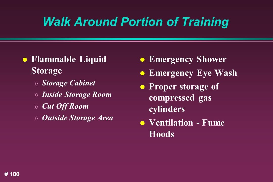 Walk Around Portion of Training