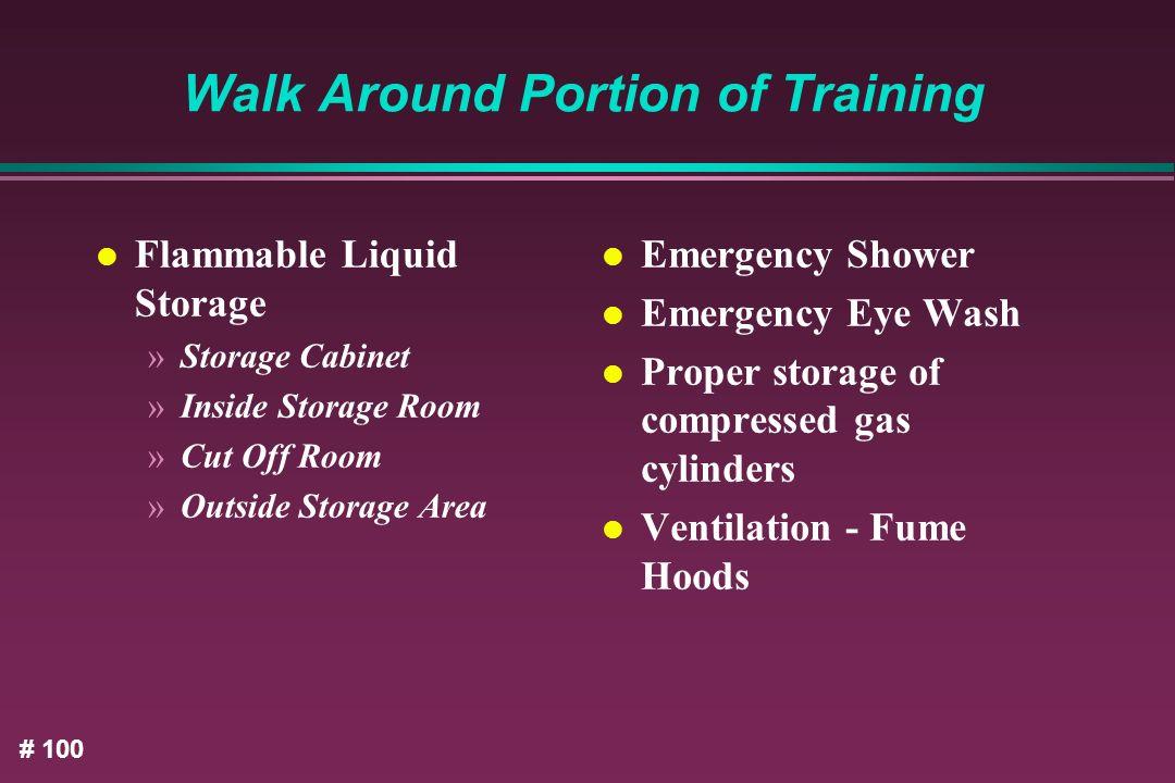 Walk Around Portion of Training