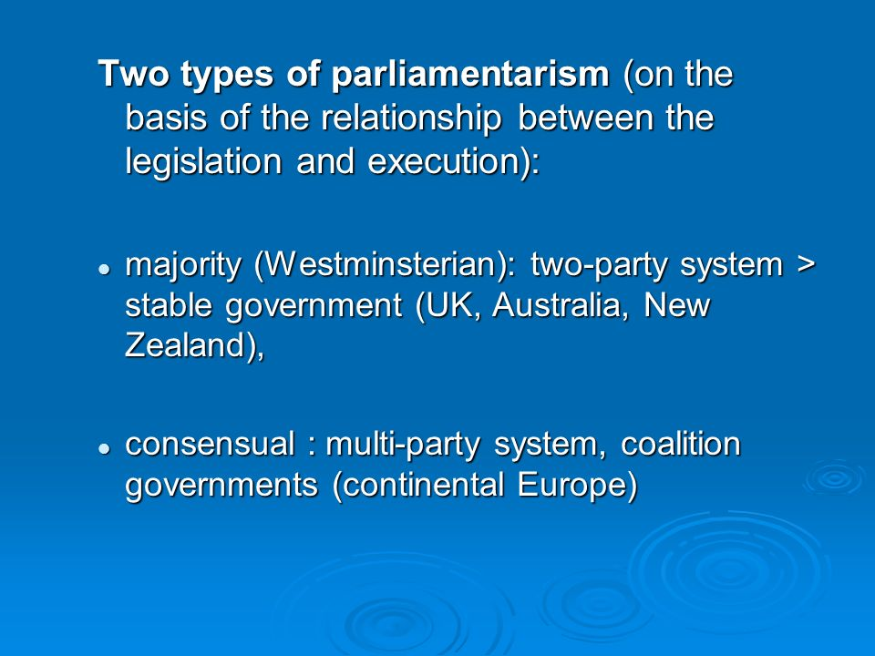 relationship between government and parliament uk
