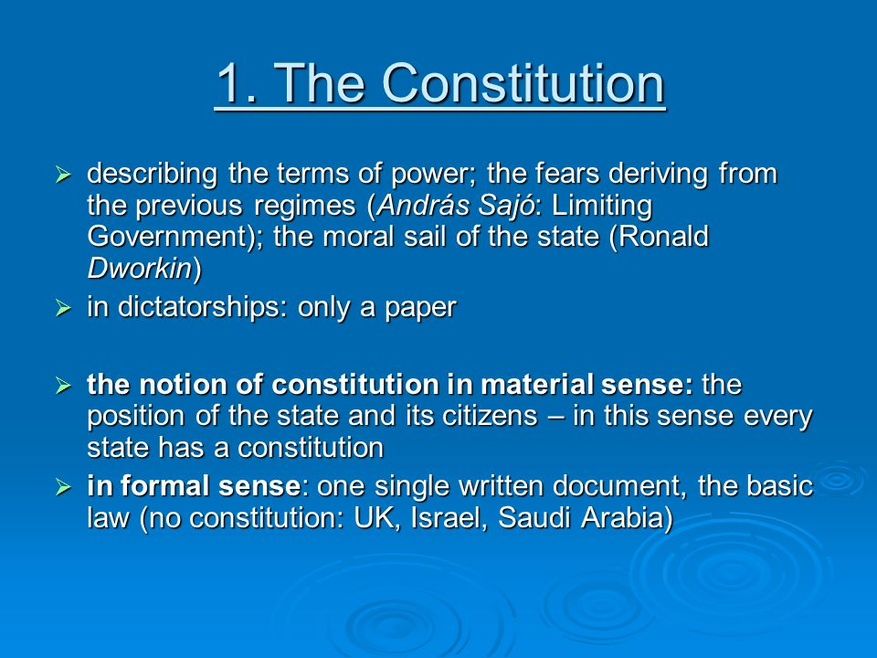 "should the uk have a written constitution essay We shall discuss this question in this essay  ""the united kingdom has no  written constitution but we have a number of constitutional."
