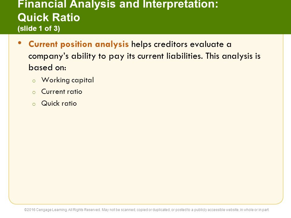 The basics of a financial analysis report