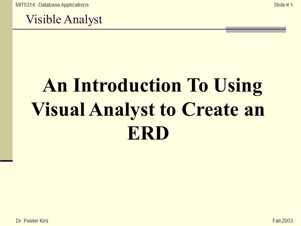 an introduction to the analysis of the case tools All reports begin with an introduction to the case have separate sections on any important conceptual tool you use what is case study analysis.