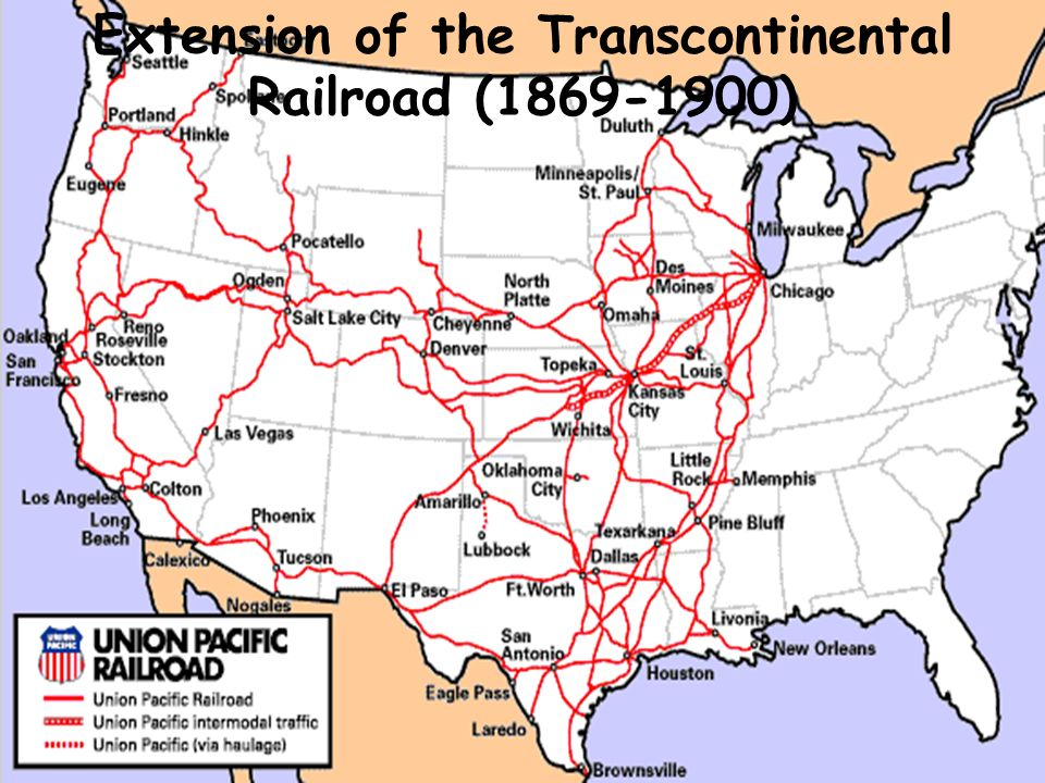 Railroads Transform The Nation Ppt Video Online Download - Map of us railroads in 1900