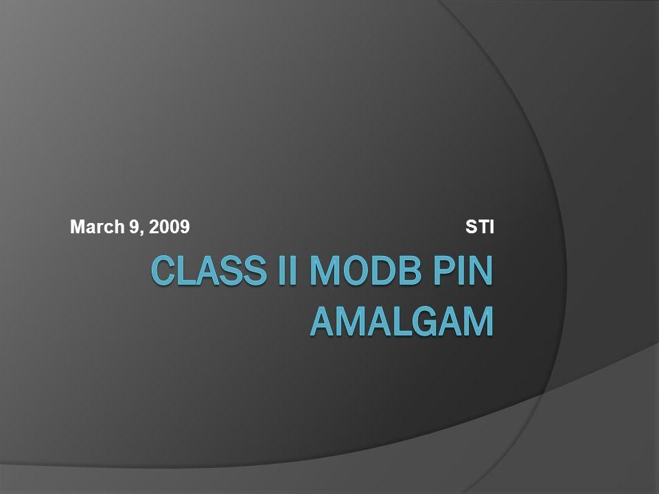 Class II MODB Pin Amalgam