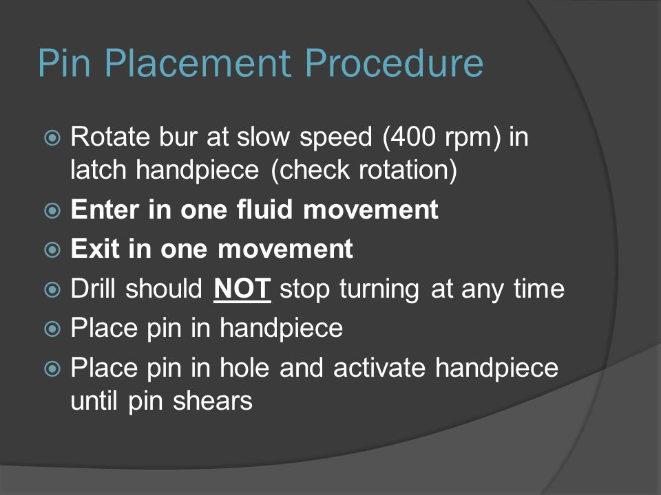 Pin Placement Procedure