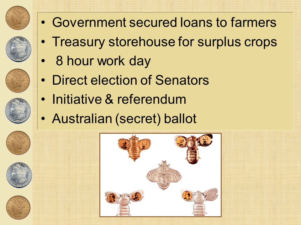 Government secured loans to farmers