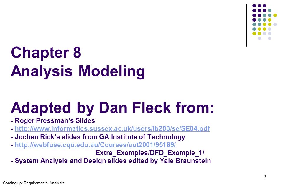 Chapter 8 Analysis Modeling Adapted By Dan Fleck From Roger Pressman S Slides Jochen Ppt Video Online Download