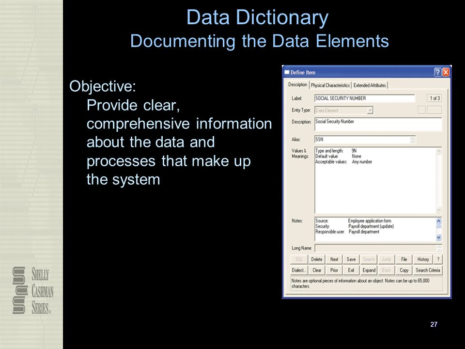 how to make a data dictionary