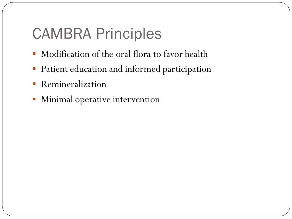 Introduction to cambra ppt video online download for Art a minimal intervention approach to manage dental caries