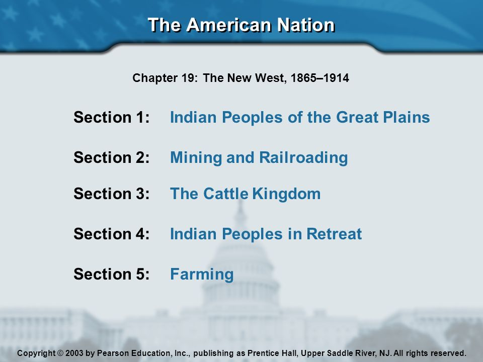 The new west 18651914 chapter 19 the american nation ppt download the american nation section 1 indian peoples of the great plains fandeluxe Gallery
