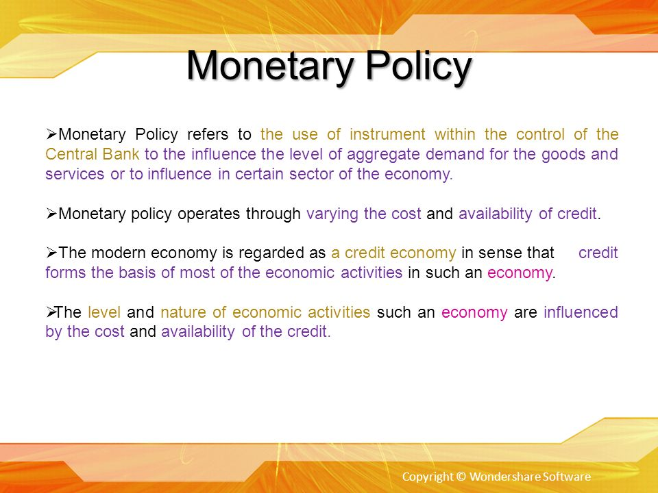 What's the difference between monetary policy and fiscal policy?