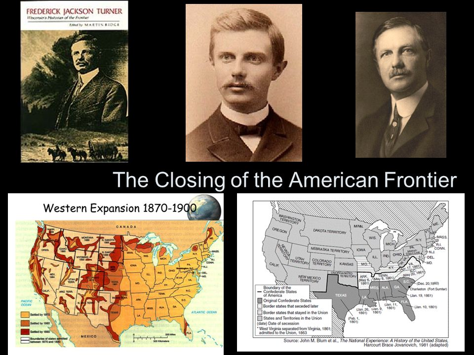 the closing of the west the turner thesis Exploring the western frontier with the records of congress summary: students will use facsimiles of historical records from the us house of representatives and the us senate to investigate whether the frontier shaped america or if america—through congress—shaped the western frontier of the contiguous 48 states from 1789 – 1890.