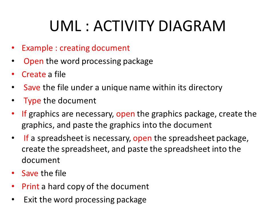 create uml activity diagrams in