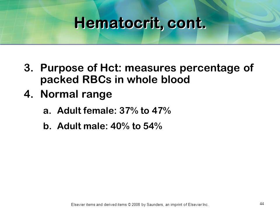 Hematocrit Range Images - Reverse Search