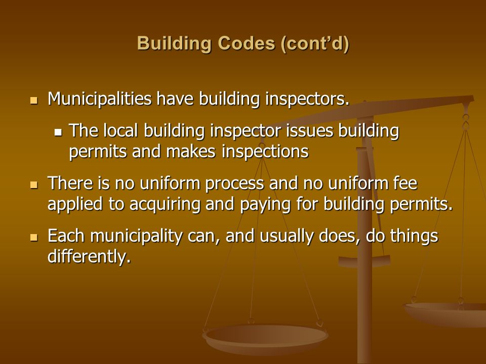 Can A Municipality Change A Building Code