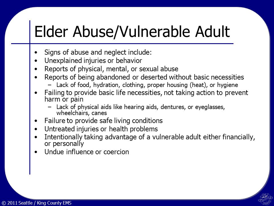 adult sexual abuse and symptoms