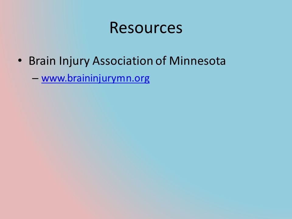 Resources Brain Injury Association of Minnesota