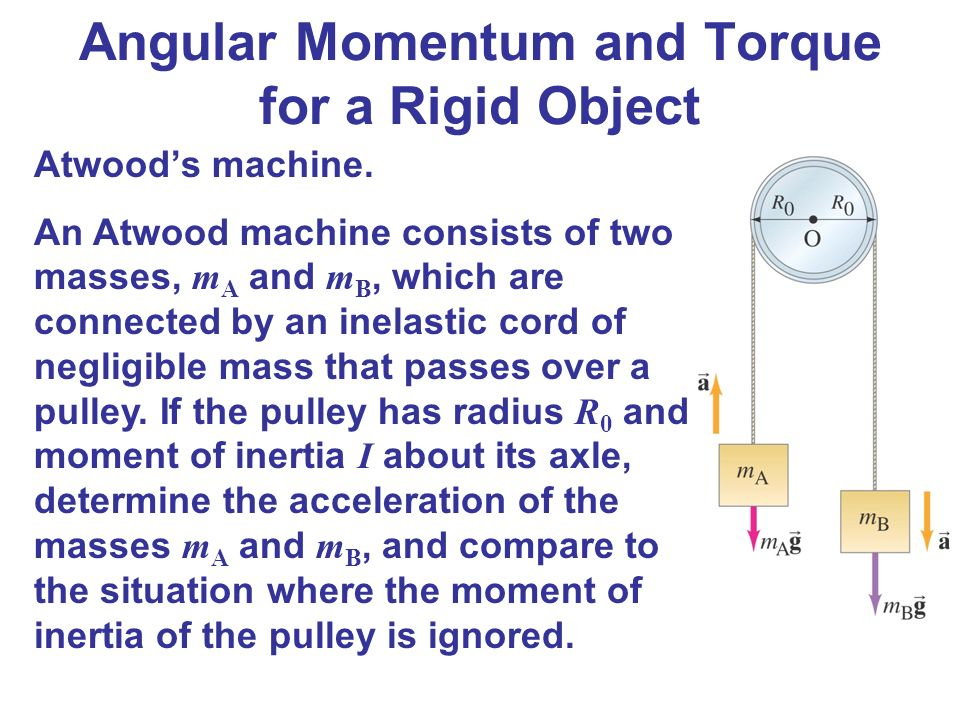 an atwood machine consists of two masses