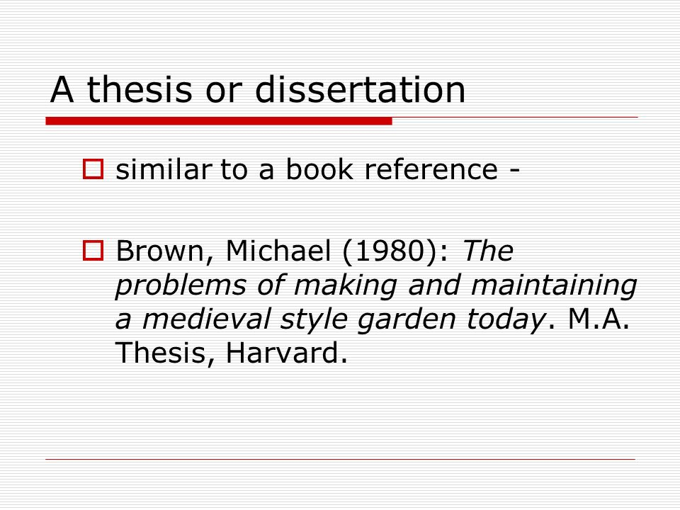 reference a thesis